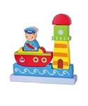 Afbeeldingen van Stapelfiguur magneetpuzzel Vigatoys zee, boot