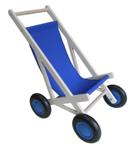 Afbeeldingen van Poppenbuggy hout blauw berkenmuliplex Van Dijk Toys