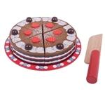 Afbeeldingen van Speel-chocoladetaart hout snijbaar Bigjigs