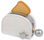 Afbeeldingen van Houten toaster wit broodrooster Joueco