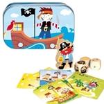 Afbeeldingen van Piraten spelletje in blikje