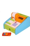 Afbeeldingen van Houten speel-kassa met rekenmachine - Santoys