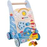 Image de Houten baby activity loopwagen Zee Bigjigs
