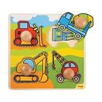 Afbeeldingen van Puzzel grote knoppen Werkvoertuigen 1+ Bigjigs