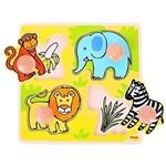 Afbeeldingen van Puzzel grote knoppen Safari 1+ Bigjigs