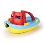 Afbeeldingen van Sleepboot rood 23cm - recycled plastic - Greentoys