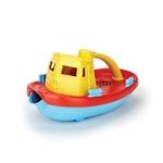 Afbeeldingen van Sleepboot geel 23cm - recycled plastic - Greentoys
