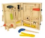 Afbeeldingen van Speel-gereedschapskoffer hout 13-delig Bigjigs
