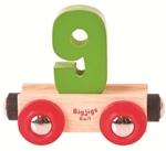Afbeeldingen van Cijfer 9 kleur, naamtrein - lettertrein Bigjigs