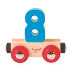 Bild von Cijfer 8 kleur, naamtrein - lettertrein Bigjigs