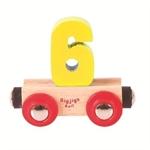 Bild von Cijfer 6 kleur, naamtrein - lettertrein Bigjigs