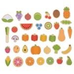 Afbeeldingen van Houten magneten Groente en Fruit Bigjigs