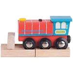 Bild von Locomotief rood met geluid houten treinbaan Bigjigs