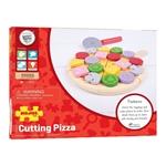 Afbeeldingen van Speel-pizza om te snijden hout Bigjigs