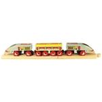 Bild von TGV sneltrein 3-delig houten treinbaan Bigjigs