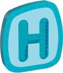 Bild von Houten letter H Haba