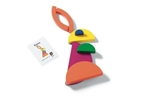 Afbeeldingen van Cirkels bouwset Regenboogkleuren BS Toys Buitenspeel