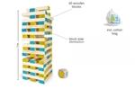 Bild von Grote bouwtoren hout met dobbelsteen Jenga BS Toys Buitenspeel