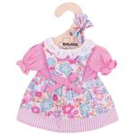 Afbeeldingen van Poppenkleding Jurk/vest bloem roze (S) Bigjigs