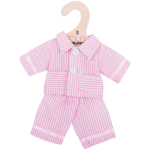 Afbeeldingen van Poppenkleding Pyjama roze (S) 25cm Bigjigs