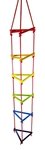 Bild von Klimrek touwladder driehoek kleurrijk Hess