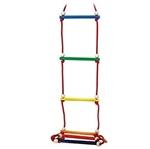 Image de Hess Touwladder 6 sporten vrolijke kleuren