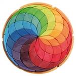 Afbeeldingen van Puzzel bouwblokken Kleurenspiraal Mandala 38 cm 72-delig Grimm's