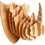 Afbeeldingen van 3d puzzel neushoorn hoofd Eureka