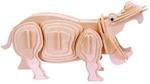 Afbeeldingen van 3d puzzel nijlpaard hippopotamus eureka