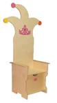 Afbeeldingen van Professionele houten verjaardagstoel- troon- kroon- stoel kleuter met lade Van Dijk Toys