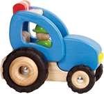 Afbeeldingen van Houten Voertuig - Tractor  Goki