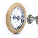 Afbeeldingen van Trybike ombouwwiel voor staal vintage fietsen, witte band