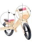 Afbeeldingen van Trybike, zadelhoes en kinbeschermer roze voor loopfiets hout