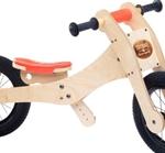 Afbeeldingen van Trybike, zadelhoes en kinbeschermer oranje voor loopfiets hout