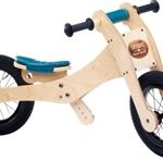 Bild von Trybike, zadelhoes en kinbeschermer blauw voor loopfiets hout