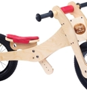 Afbeeldingen van Trybike, zadelhoes en kinbeschermer rood voor loopfiets hout
