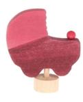 Image de Decoratieve steker roze kinderwagen Grimm's