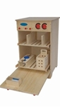 Afbeeldingen van Speel- kinderkeuken-Kleuter Vaatwasser blank hout 40x 40x 61 cm Van Dijk Toys