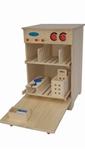 Bild von Speel- kinderkeuken-Kleuter Vaatwasser blank hout 40x 40x 61 cm Van Dijk Toys