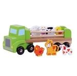 Afbeeldingen van Houten vrachtauto met boerderijdieren