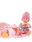 Afbeeldingen van Pop Sleepy Aquini Girl Strawberry Fields 33 cm Götz/Gotz Bathing Baby
