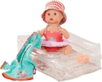 Bild von Pop Sleepy Aquini Girl Vintage 33 cm Götz/Gotz Bathing Baby