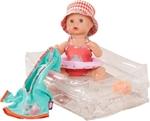 Afbeeldingen van Pop Sleepy Aquini Girl Vintage 33 cm Götz/Gotz Bathing Baby