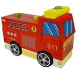 Afbeeldingen van Blokken stapelpuzzel brandweerauto