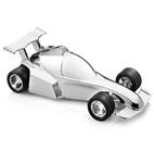 Afbeeldingen van Spaarpot Raceauto 15 cm Verzilverd gelakt