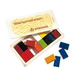 Afbeeldingen van Stockmar wasblokjes 16 kleuren in houten kistje