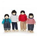 Afbeeldingen van Poppenhuispoppetjes Aziatische familie 4 stuks Tidlo