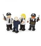 Afbeeldingen van Poppenhuispoppetjes politie en boef 2 stuks Tidlo