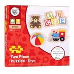 Afbeeldingen van Puzzels speelgoed 4 puzzels uit 2 delen Bigjgs