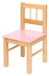 Image de Kinderstoeltje blank hout - Roze zitvlak Bigjigs